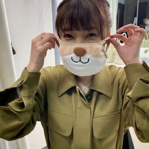 """【朗報】倉科カナ もらった""""動物マスク""""姿公開「使わせていただきます!多分。うん」"""