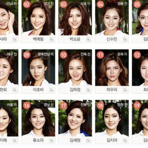 【画像】美人揃いで有名な国大韓民国の美女の頂点わ決めるミス・コリアの決勝進出者がこちらですwwww