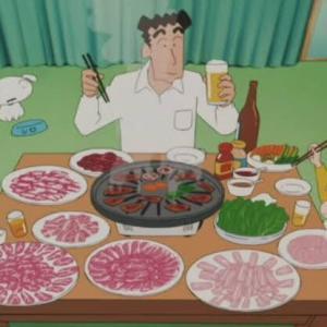 【画像】野原ひろし(年収600万)家の夕食がコチラwwwwwwwwwwww
