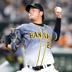 【阪神】高橋が打者6人連続奪三振 坂本からは鋭い変化球で