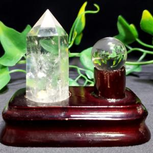 水晶ポイント&丸玉置物