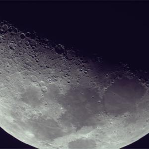 久し振りに月面撮影、、、なかなか晴れない南関東平野