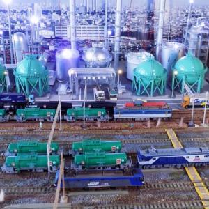 「JXTGエネルギー株式会社」ENEOS根岸製油所風のEF210とかEF64とかタキ1000貨物