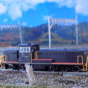 無料背景画を使った超簡単ジオラマ背景画を作る!とTOMIX JRDE10形ディーゼル機関車(JR九州黒色塗装B)