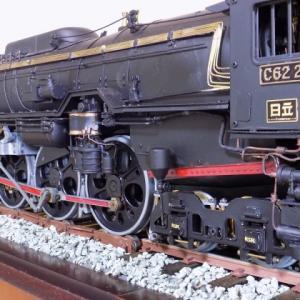 週刊 蒸気機関車C62を作るでっかい蒸気機関車のすす払い?