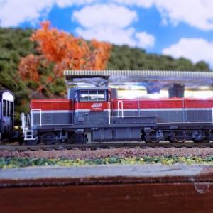 小型レイアウトのリニューアルとJR DE10-1000形ディーゼル機関車(JR貨物新更新車B)とDD13