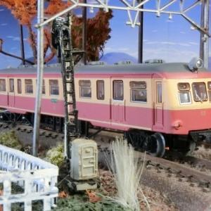 鉄道模型をやっています。鉄道コレクション 第22弾江若鉄道キハ12をジオラマに置いてみたら