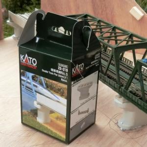 KATO複線トラス鉄橋を使ったジオラマを作るシリーズNO.3 鉄橋橋脚を仮設してみました。