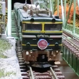 TOMIXJR 24系25形特急寝台客車(トワイライトエクスプレス)とTOMIX複線曲弦大トラス鉄橋