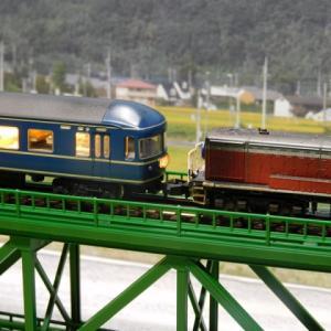 買ってみたTOMIX上路式単線トラス鉄橋S280(F)(深緑)の使い道撮影台にはもってこいです。