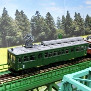 鉄道コレクション 鉄コレ 箱根登山鉄道モハ2形 ありがとう109号がTOMIX上路式単線トラス鉄橋を走る