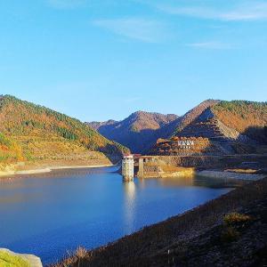 日中ダム&つり橋の空撮