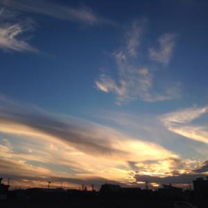 石狩の夕陽