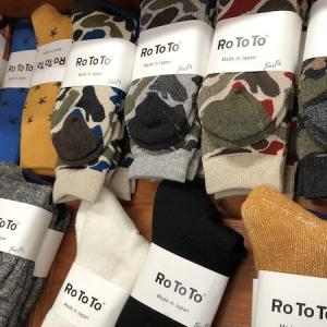 RoToTo ロトト あったか靴下やマフラーなども準備OKです!