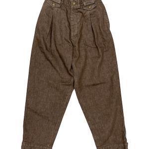Nasngwam ナスングワム PIERROT PANTS に新色のブラウンが登場してます!