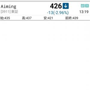 【万年B2級】エイミング400株を購入【中長期戦なら勝てるかも】