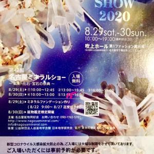 8/29〜30「名古屋ミネラルショー」事前予約