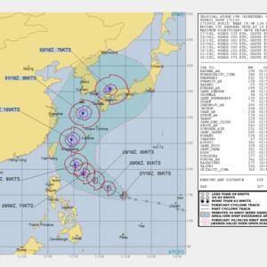 台風18号卵は沖縄から東シナ海~九州上陸コースか? /米軍台風18号/ヨーロッパの予想