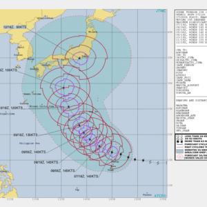 台風19号は900hpaに 進路は東海~関東方面/2019台風19号8日/沖永良部台風並