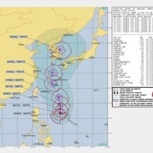 台風9号 沖縄直撃コース /世界の台風9号進路予報/奄美地方も厳重警戒を