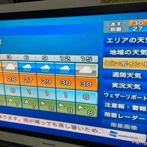明日8月2日も不安定に気象/沖永良部島