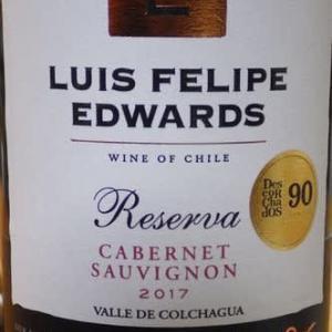 Luis Felipe Edwards Cabernet Sauvignon 2017 ~ マアジ、イセエビ