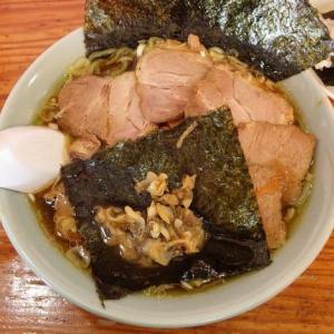 いいのラーメン [富津市] / のりチャーシュー + 餃子おにぎり