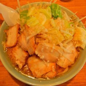 らぁめん伊山 [伊東市] / 大麺平打ち麺 + チャーシュー