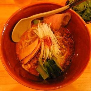 麺山椒 [横須賀市] / 汁なし担々麺 + パクチー + チャーシュー1枚 + ライス