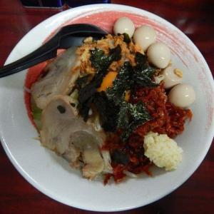 麺屋 臥竜 [中区] / えび汁なしそば + 味うずら