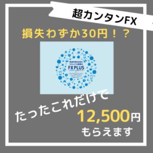 【超初心者向け】わずか1回のFX取引,損失30円で12,500円がもらえる大チャンス!【手順解説付き】