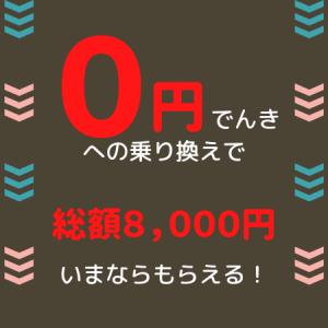 【新電力】ポイントサイト経由で「0円でんき」に乗り換えると今なら総額8,000円もらえる!