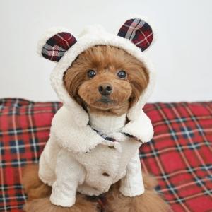 犬服♪ もこもこくまコート
