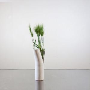 変形花器に、ムギのみ