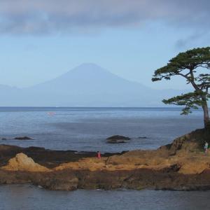 富士山がくっきり見えた!三浦半島西海岸の朝
