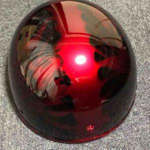 自作 キャンディー塗装ヘルメット 完成