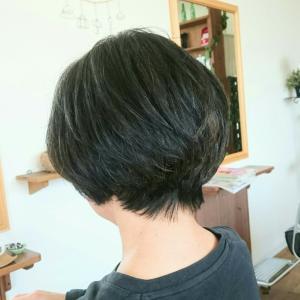 クセ毛で広がりやすい髪に ヘナ と カット。