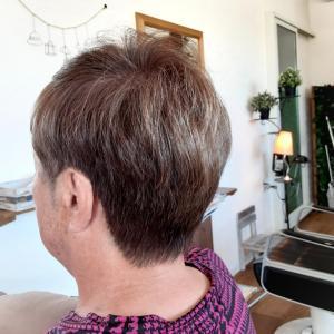 石井の仕事。その22 あまりやらないカラーの白髪染めとショートカット