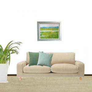 インテリア絵画を部屋に飾ったイメージ画像を無料で作成します。