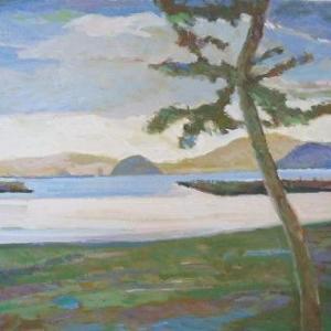絵画・海(黎明合浦浜)
