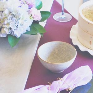 紫陽花のあるテーブル