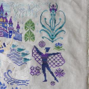 Owl Forest Embroidery Swan Lake 黒のジークフリート