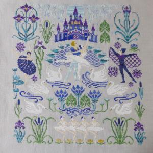 Owl Forest Embroidery Swan Lake お終い
