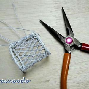 網目を細かくしたくて「六つ編み」にチャレンジ