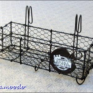 亀甲編みの 引っ掛けカゴ