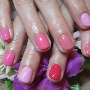 5色ピンクネイル