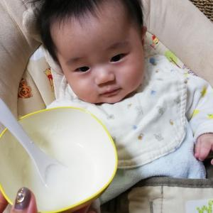 離乳食始めました!