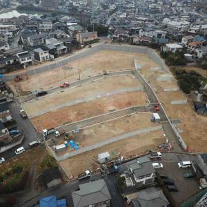 東海市35区画の宅地分譲地完成間近(No.2479)
