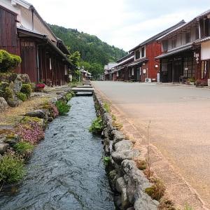 熊川宿の散策 徳川家康が腰掛けた松の木とご当地マンホール