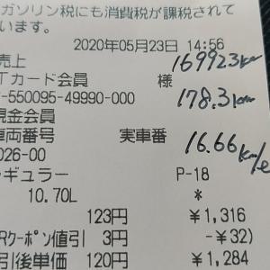 ワゴンR オイル交換と単発燃費16.66km/L!!